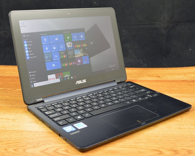 The Asus Transformer Book Flip sports a 360-degree hinge centered on the display,