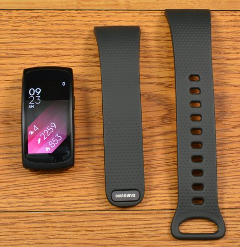 The Samsung Gear Fit 2 with removable straps.