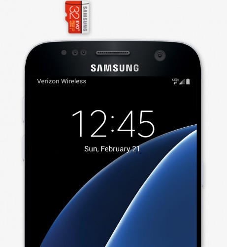 The S7 supports microSD cards, giving it expandable storage up to 200GB.