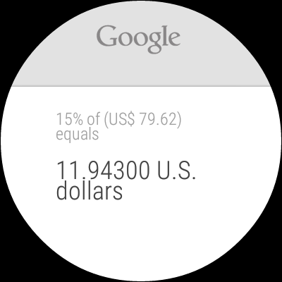 Android Wear is great for basic info, like math problems.
