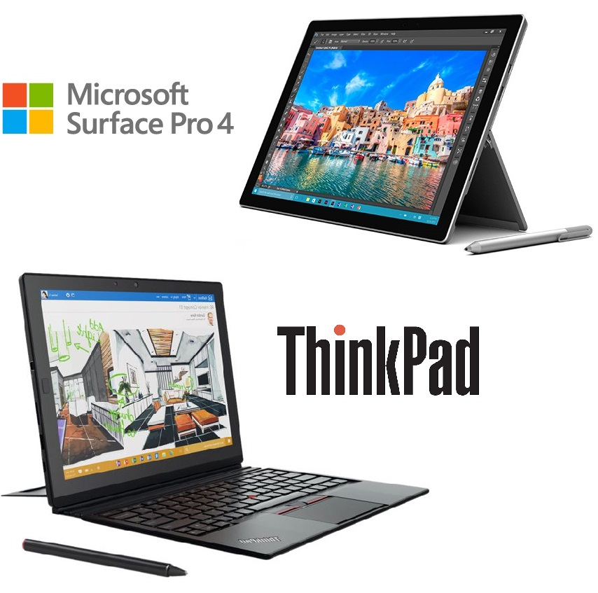 microsoft surface pro 4 vs lenovo thinkpad x1 tablet. Black Bedroom Furniture Sets. Home Design Ideas