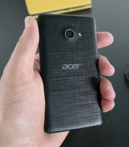 The Acer Liquid M220 has a removable back cover.