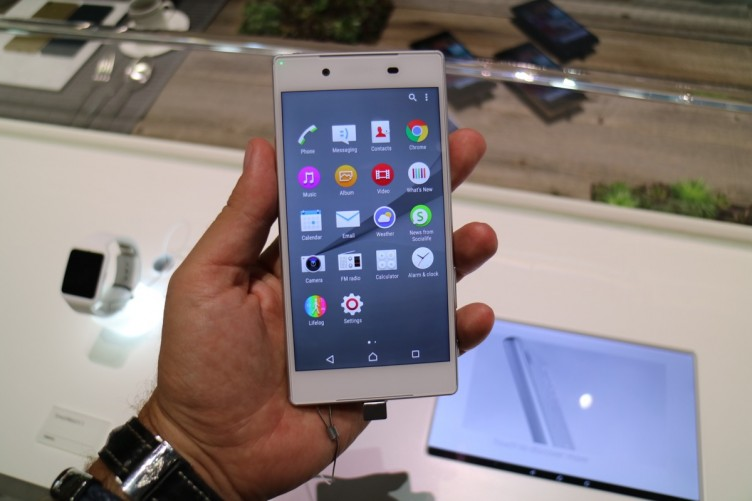 The Sony Xperia Z5 is a more standard flagship Android smartphone.